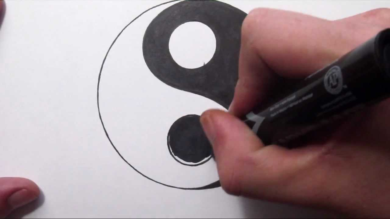 1280x720 How To Draw A Yin Yang Symbol