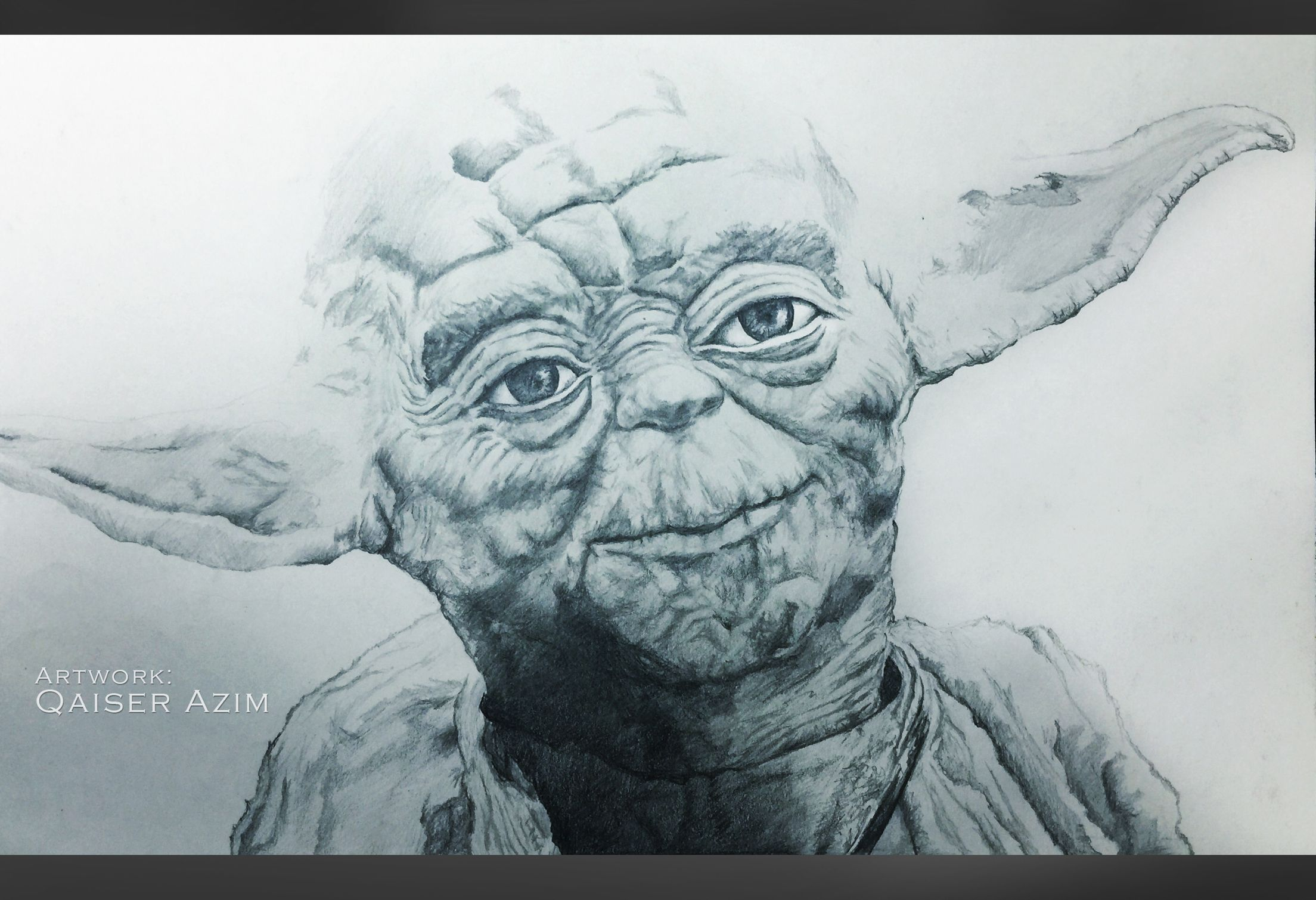 2208x1509 Yoda Pencil Sketch. Movie Art By Qaiser Movie