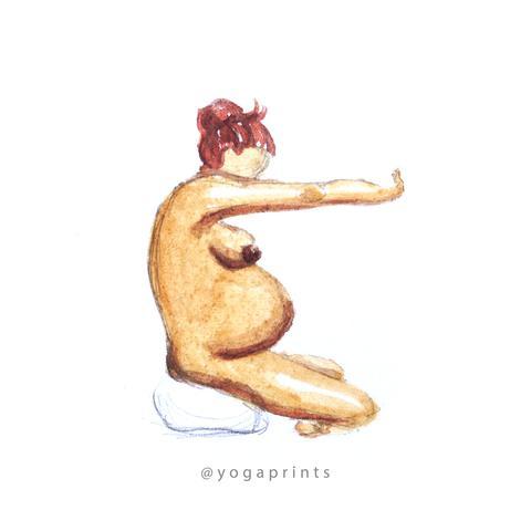 480x480 Prenatal Yoga Poster In The Making Yoga Prints