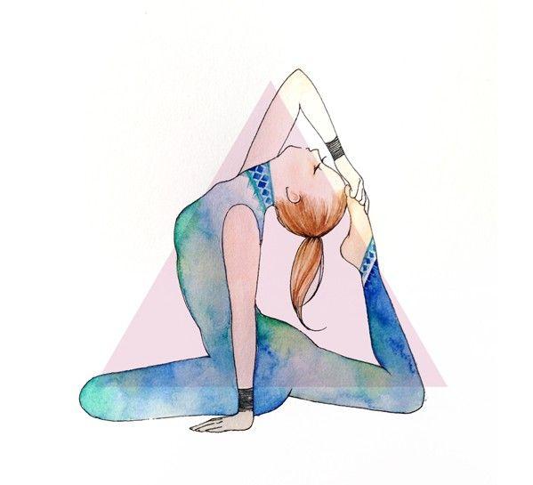 599x545 Yoga Drawing King Pigeon Yoga Yoga And Chakras