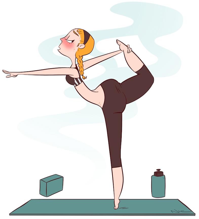785x862 Hot Yoga. Hot Yoga, Drawing Girls And Girl Drawings
