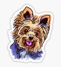 210x230 Yorkie Drawing Stickers Redbubble