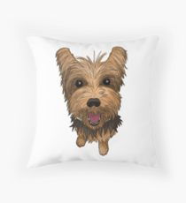 210x230 Yorkie Drawing Throw Pillows Redbubble