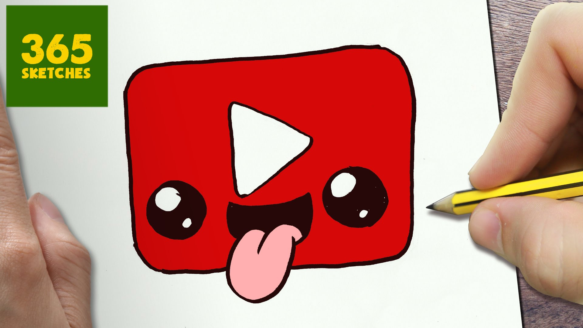 1920x1080 How To Draw A Youtube Logo Cute, Easy Step By Step Drawing Lessons