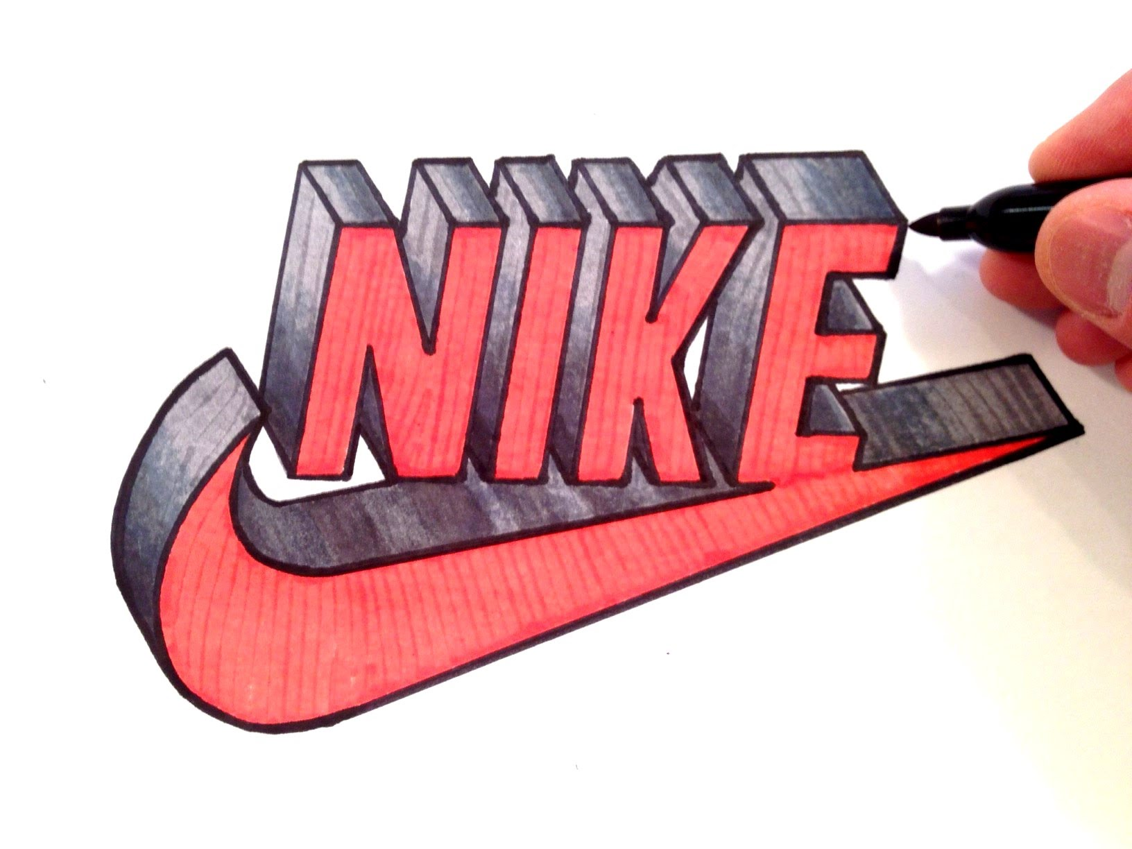 1632x1224 How To Draw Nike Logo In 3d