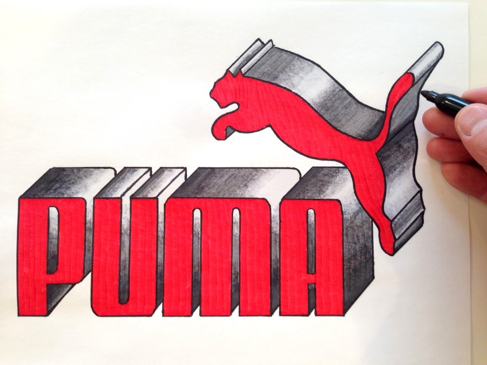 1632x1224 How To Draw The Puma Logo In 3d