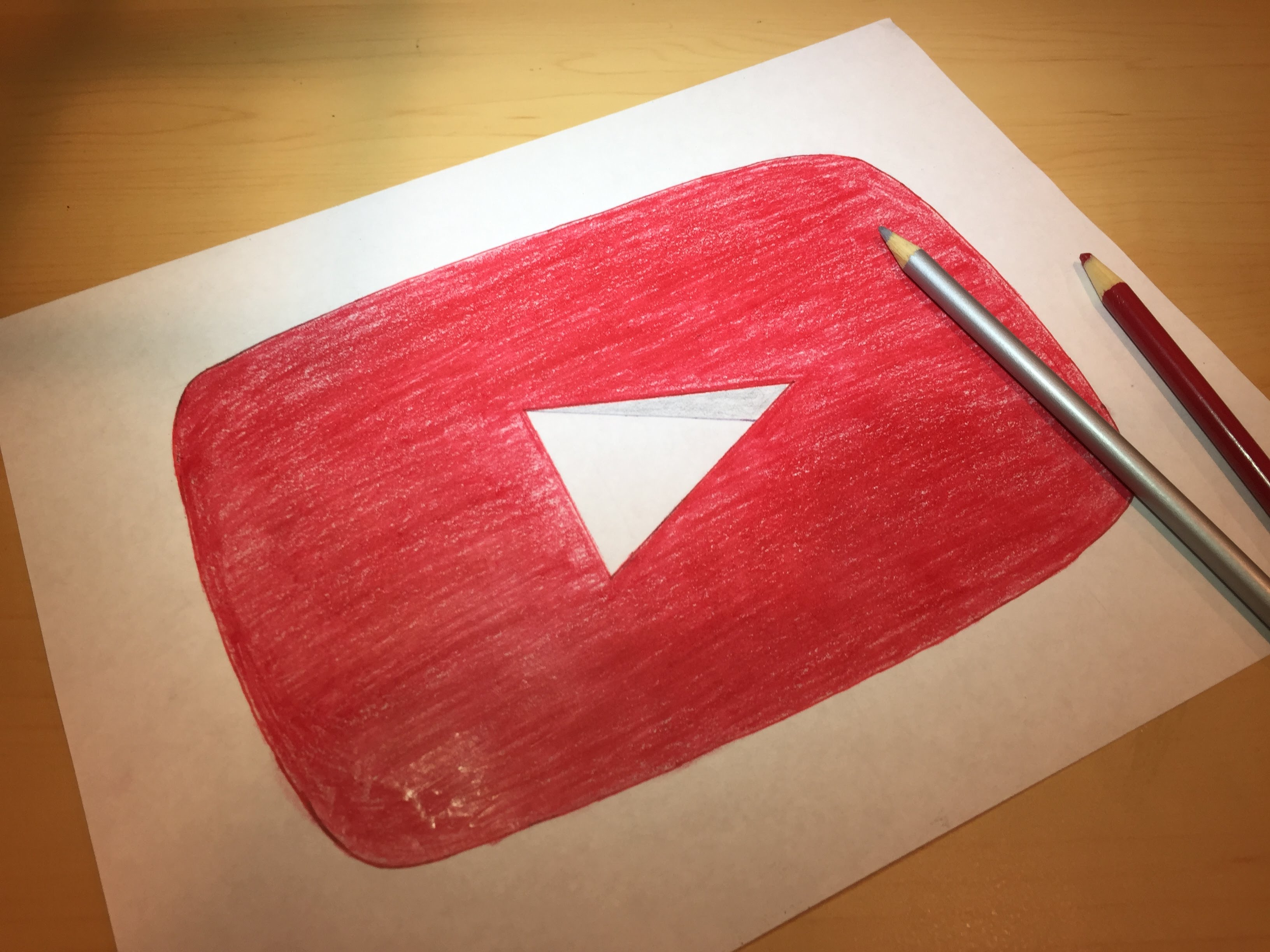 3264x2448 How To Draw The Youtube Logo Logo Drawing