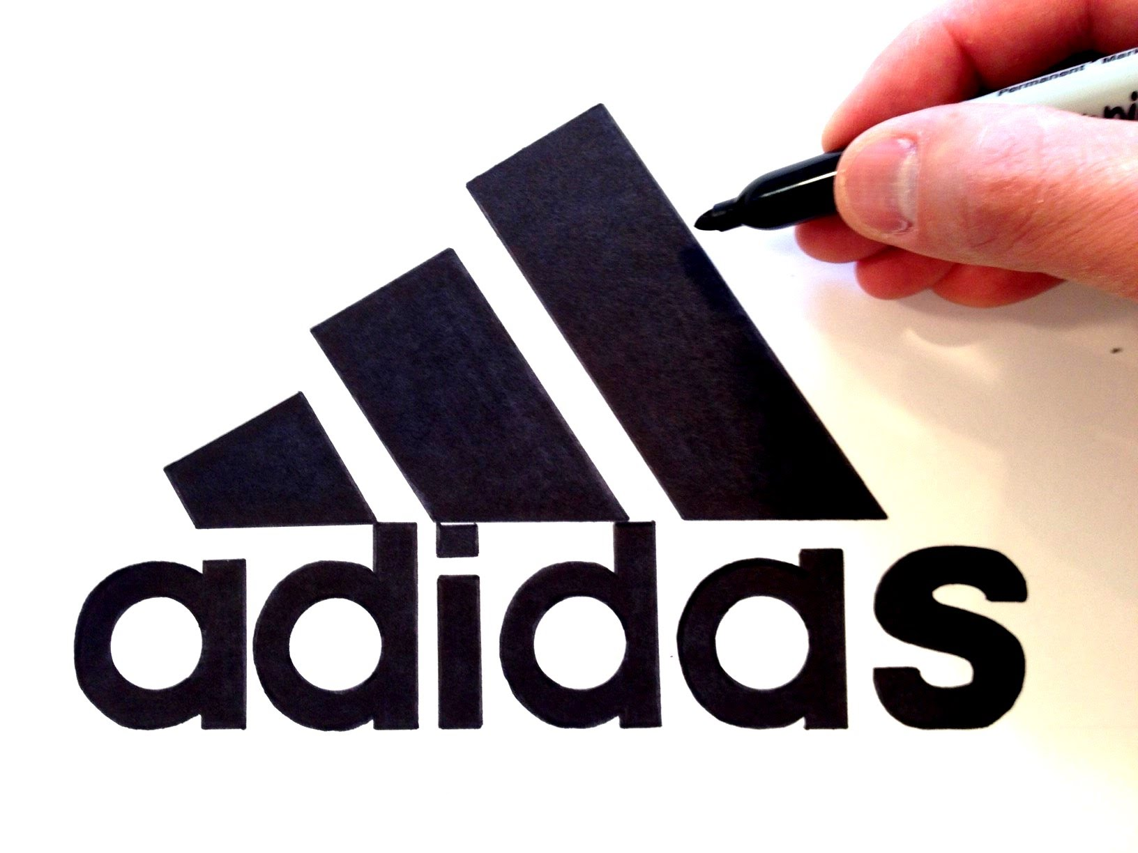 1632x1224 How To Draw The Adidas Logo