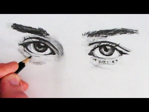 480x360 How To Draw Realistic Eyes Narrated