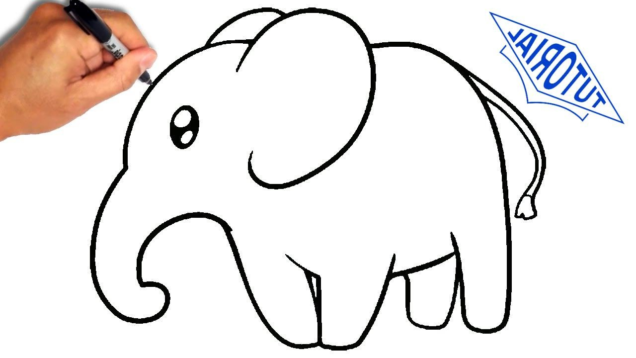 1280x720 Easy Ways To Draw Animals How To Draw An Elephant For Kids [Simple