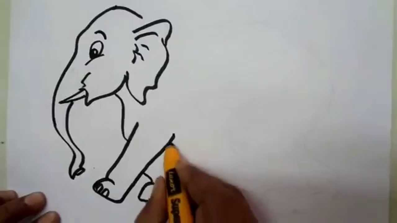 1280x720 How To Draw An Elephant