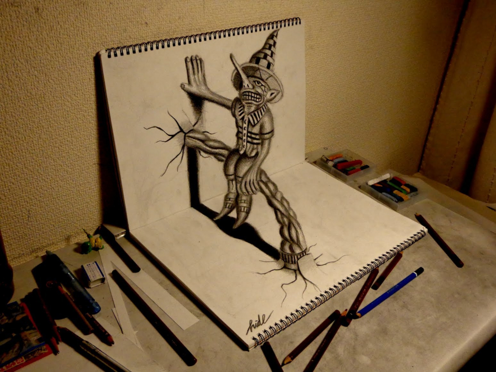 1024x768 How To Do 3d Drawings How To Do 3d Pencil Drawings 3d Drawing