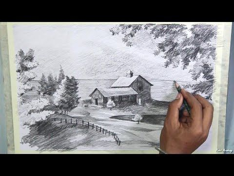 480x360 How To Draw A Beautiful Scenery In Pencil Step By Step Pencil
