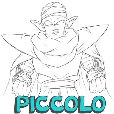 400x400 How To Draw Piccolo From Dragon Ball Z With Easy Step By Step