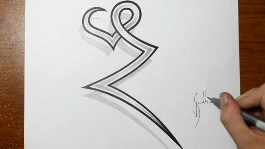 1024x576 Ideas Of Draw Tribal Letters Drawing The Letter Z Combined