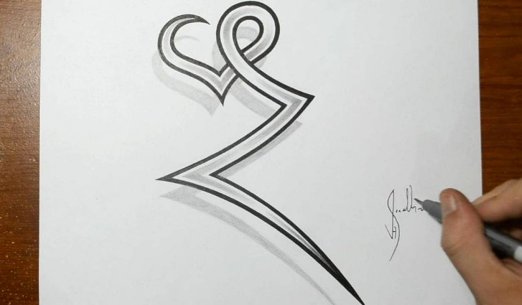 1024x600 Letter Drawing Sketch A To Z Design Drawing The Letter Z Combined