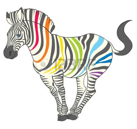 450x425 Fun Cute Cartoon Zebra In Energetic Pose