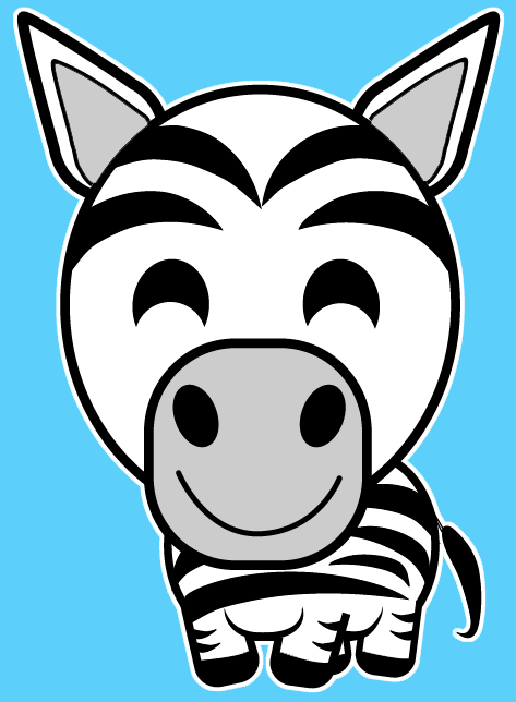 473x644 How To Draw A Cartoon Zebra With Easy Steps Lesson For Kids