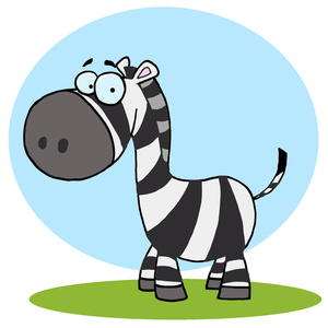 300x300 Zebra Cartoon Clipart Image