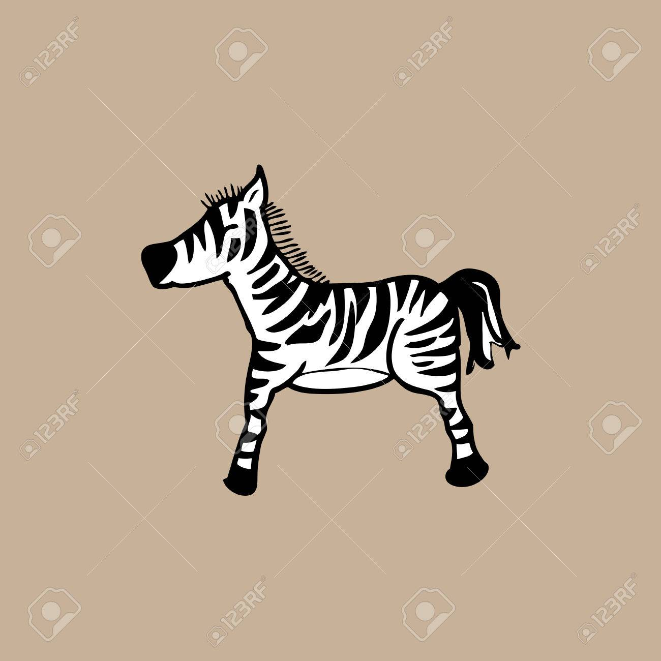1300x1300 Zebra Cartoon Drawing Character Vector Royalty Free Cliparts
