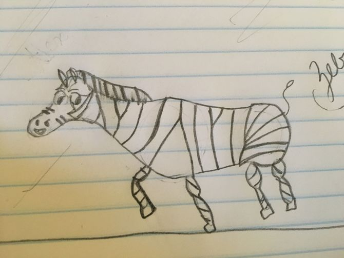 670x503 How to Draw a Zebra (with Pictures)