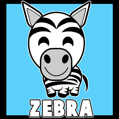 400x400 How To Draw A Cartoon Zebra With Easy Steps Lesson For Kids
