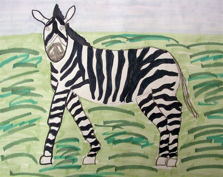 450x357 Zebra Art Projects And Drawing Guide For Kids Deep Space Sparkle