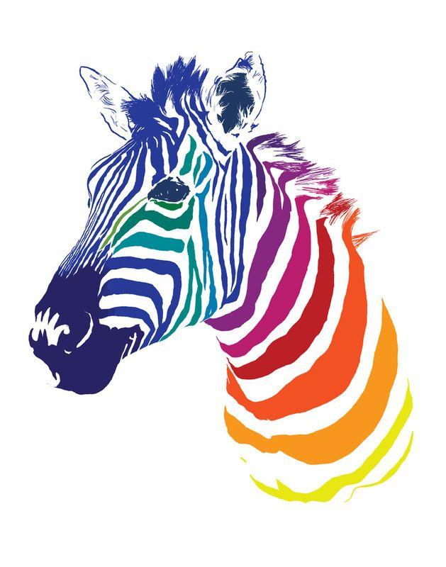 629x800 Rainbow Zebra! Next We Should Do A Rainbow Unicorn