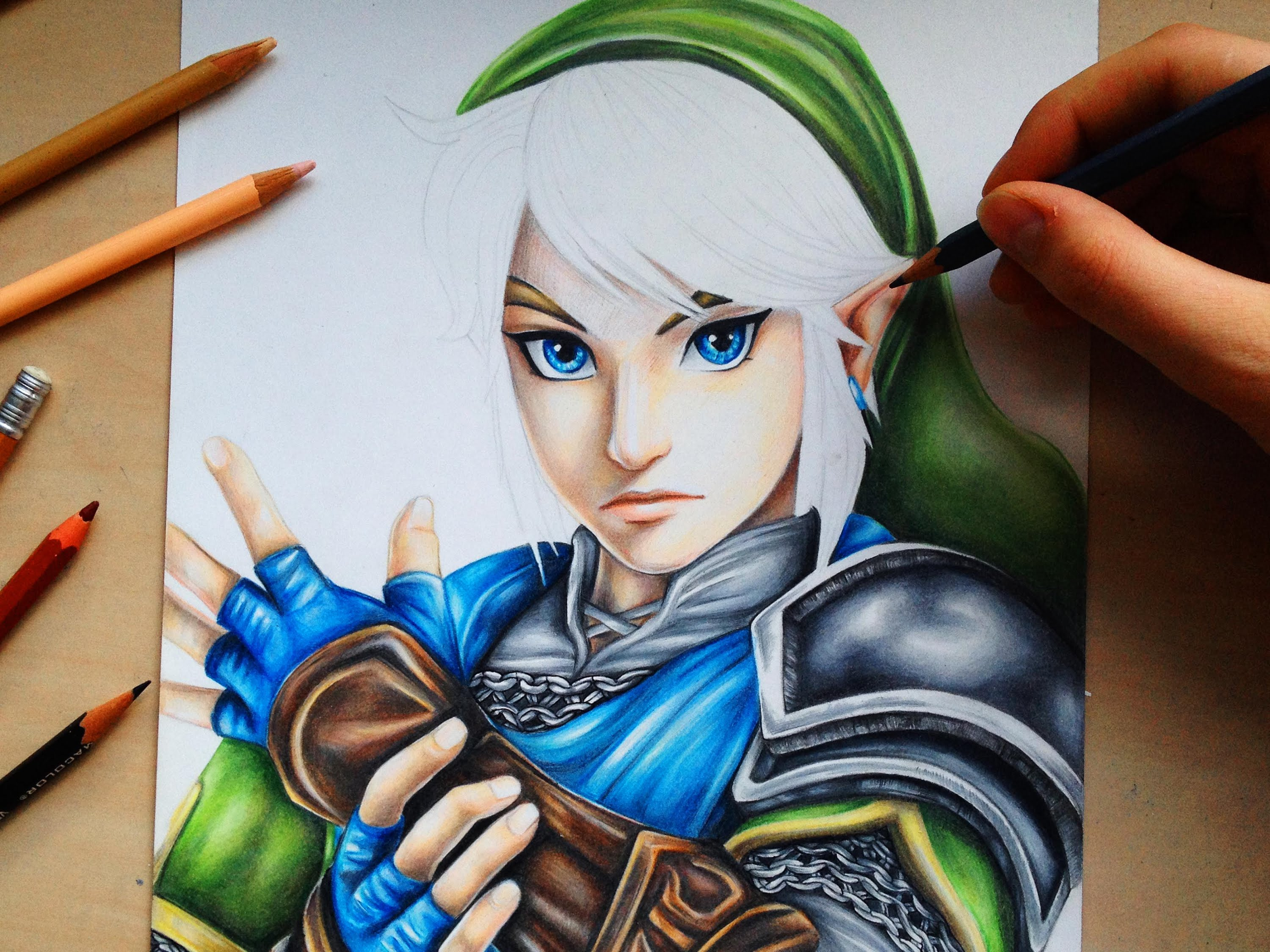 3000x2250 Drawing Link From The Legend Of Zelda