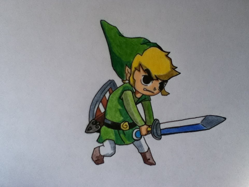 960x720 Drawing Toon Link From The Legend Of Zelda