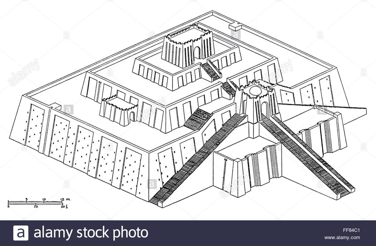 1300x853 Ziggurat Ur Nammu. Nprojection A Reconstruction