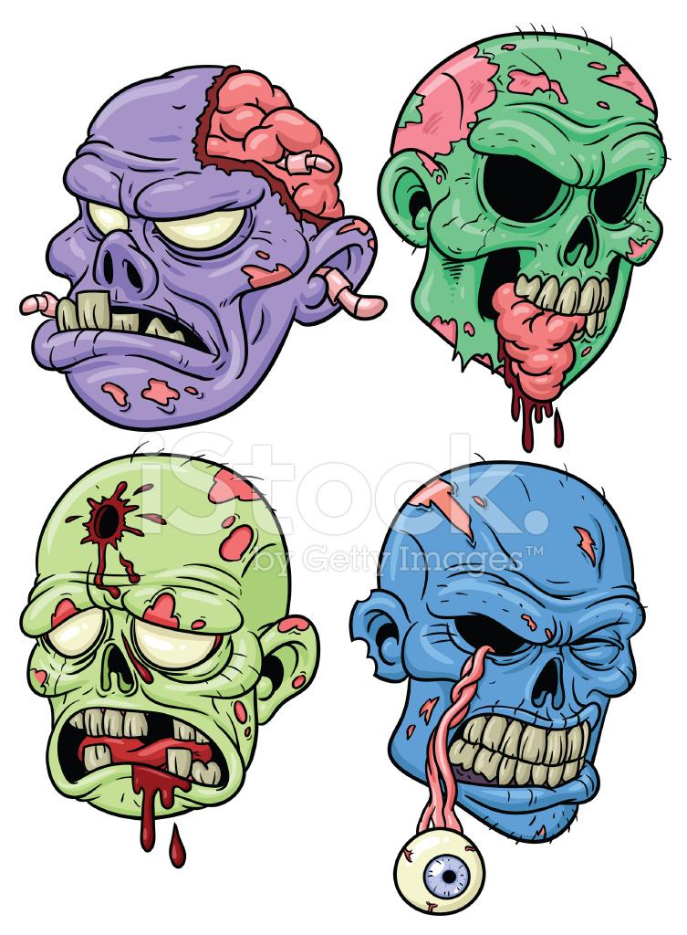 753x1024 Cartoon Zombies Stock Vector