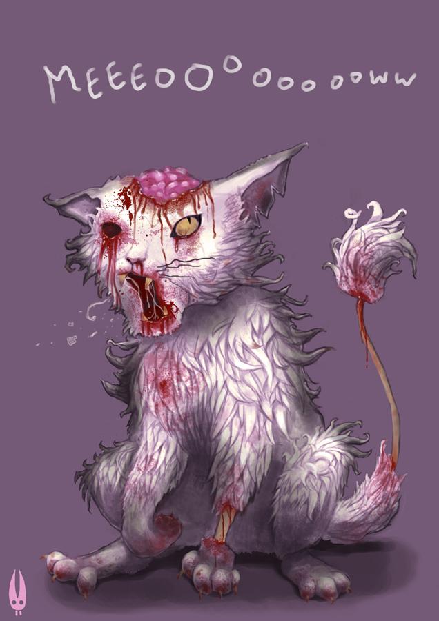 636x900 Asti's Art Zombie Cat!