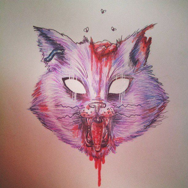 612x612 Zombie Cat By Daddy Likes Men11
