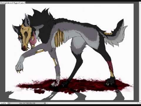 480x360 Drawing A Zombie Wolf Old