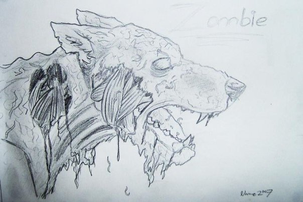 Zombie Face Line Drawing : Zombie dog drawing at getdrawings.com free for personal use