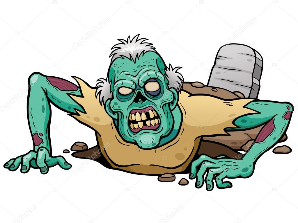 1024x768 Cartoon Zombie Character Stock Vector Sararoom