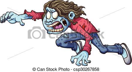 450x247 Cartoon Zombie Girl. Vector Clip Art Illustration With Clipart