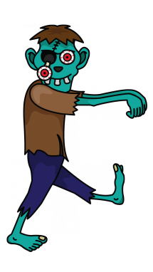 215x382 How To Draw A Zombie, Easy Step By Step Drawing Tutorial