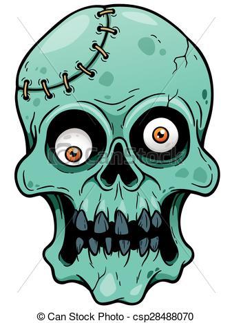 337x470 Vector Illustration Of Cartoon Zombie Face Vectors Illustration