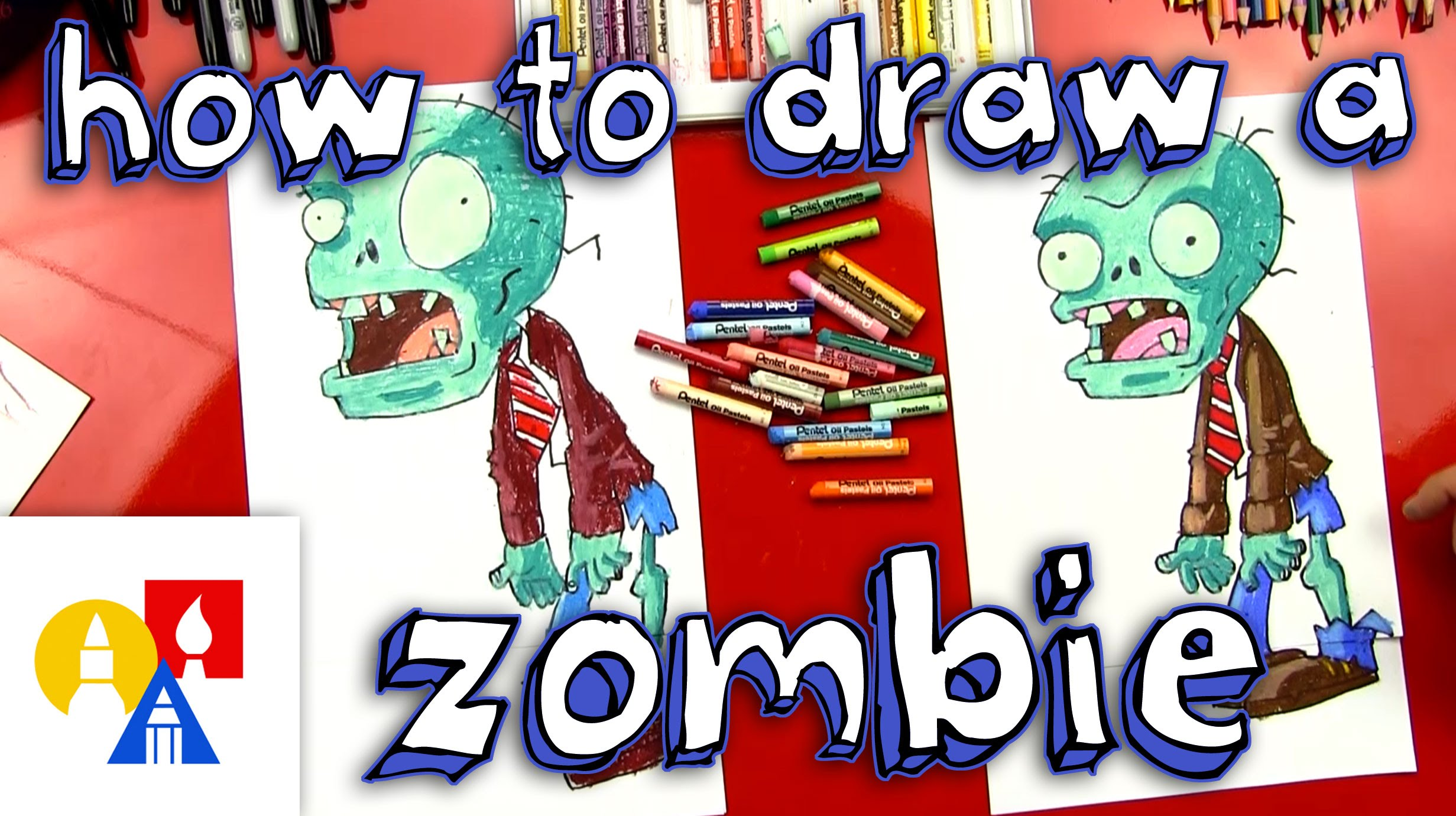 2463x1381 How To Draw A Zombie (Plants Vs Zombies)
