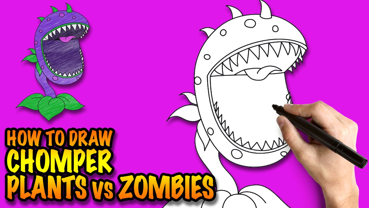 1280x720 How To Draw Plants Vs Zombies Chomper