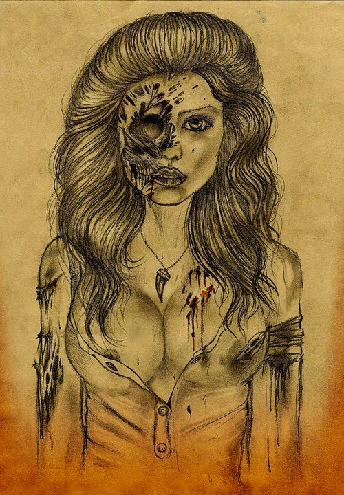 500x720 9 Best Zombie Face Images On Zombie Drawings, Zombie