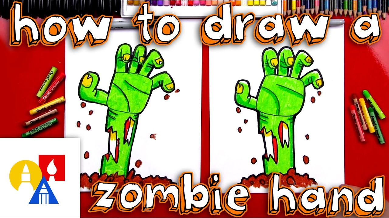 1280x720 How To Draw A Zombie Hand Coming Out Of The Ground