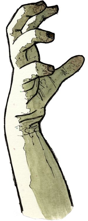 300x753 A Zombie Hand Drawing I Found On The Internet Hands