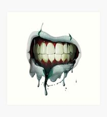 210x230 Bloody Mouth Drawing Art Prints Redbubble