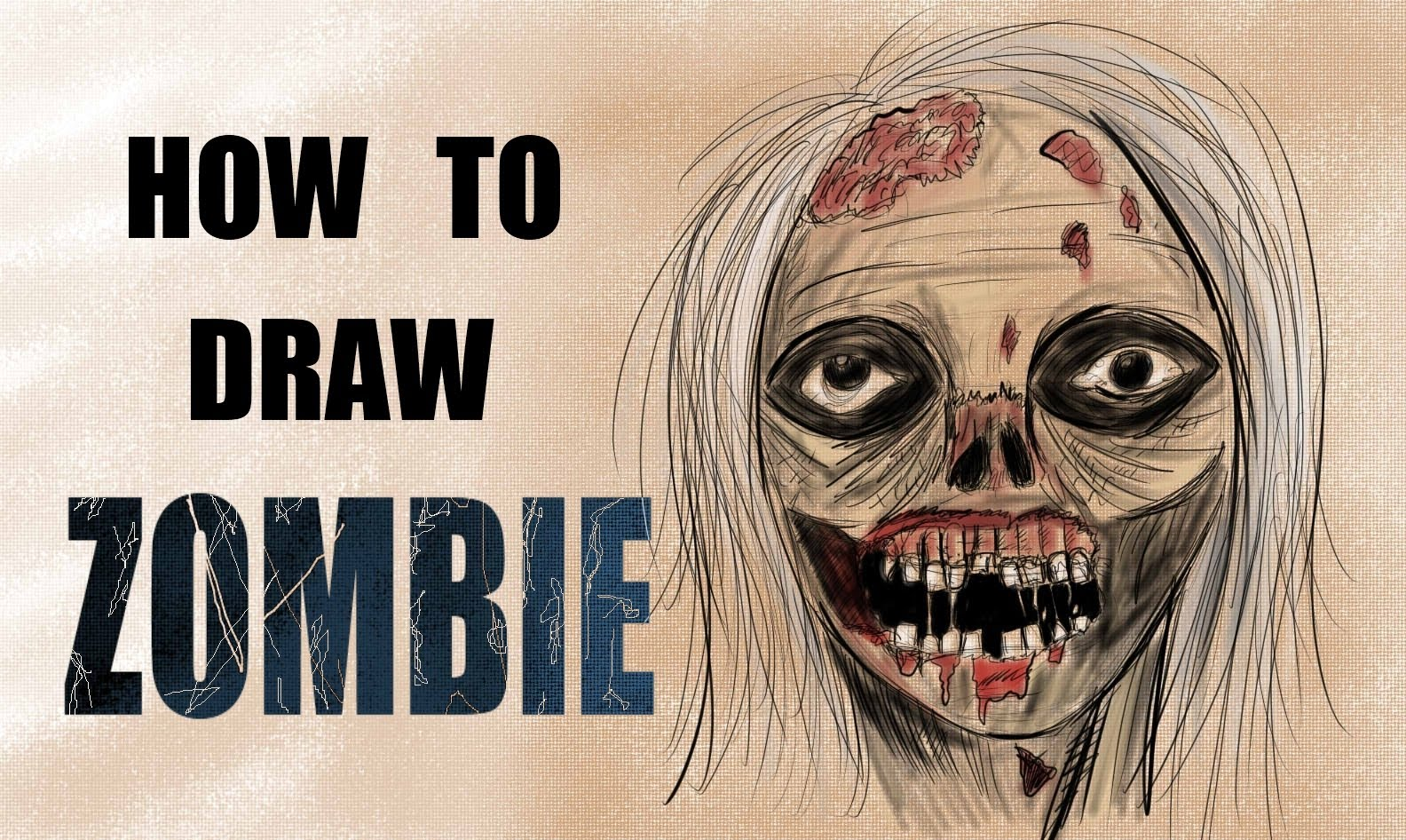 1584x946 Ep. 87 How To Draw A Zombie (Walking Dead)