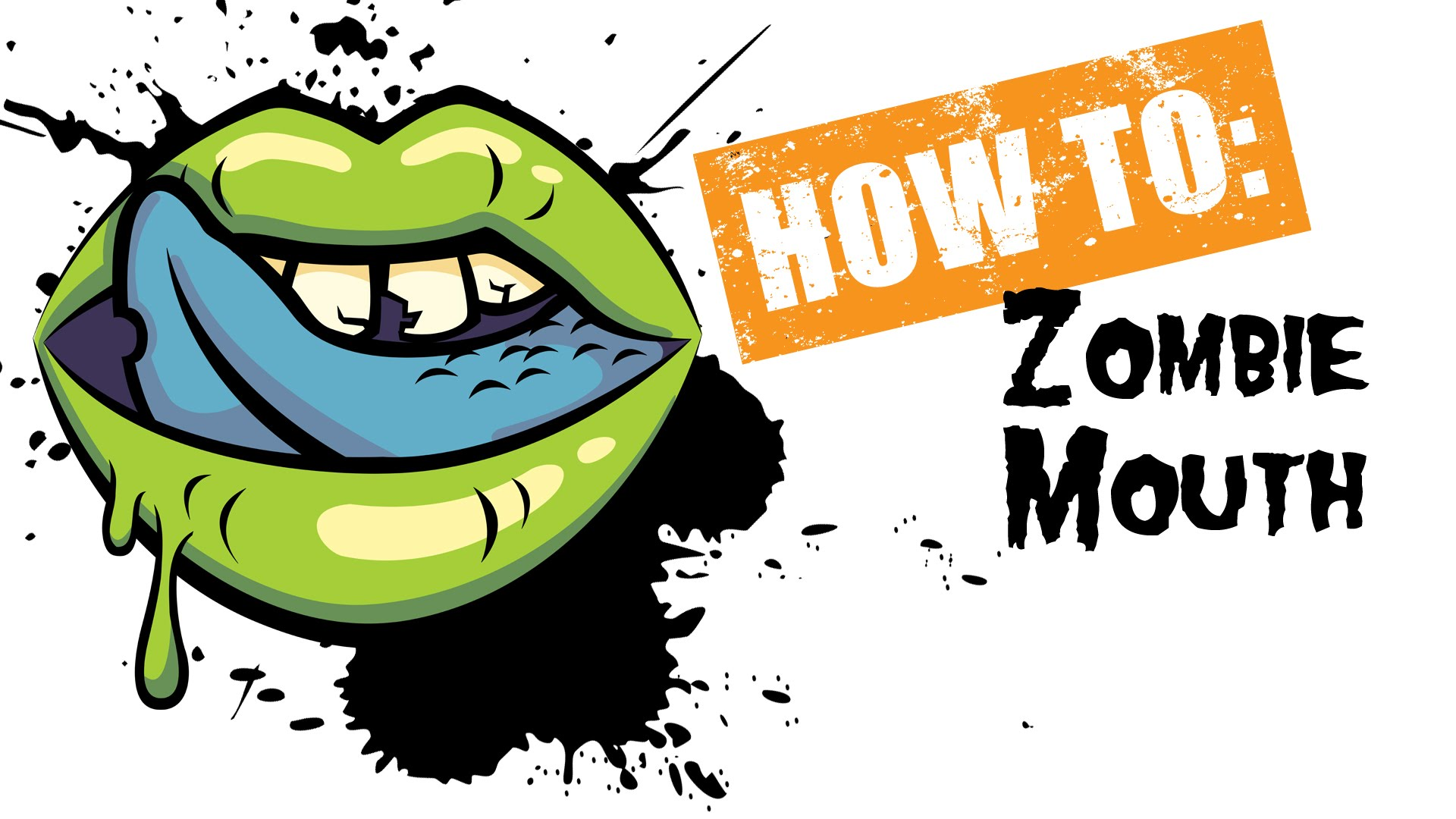 1920x1080 How To Draw A Zombie Mouth Illustrator Tutorial
