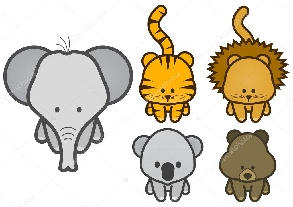 1023x725 Cartoon Animals Cute Images Pictures Clipart 2013 Cartoon Zoo Animals