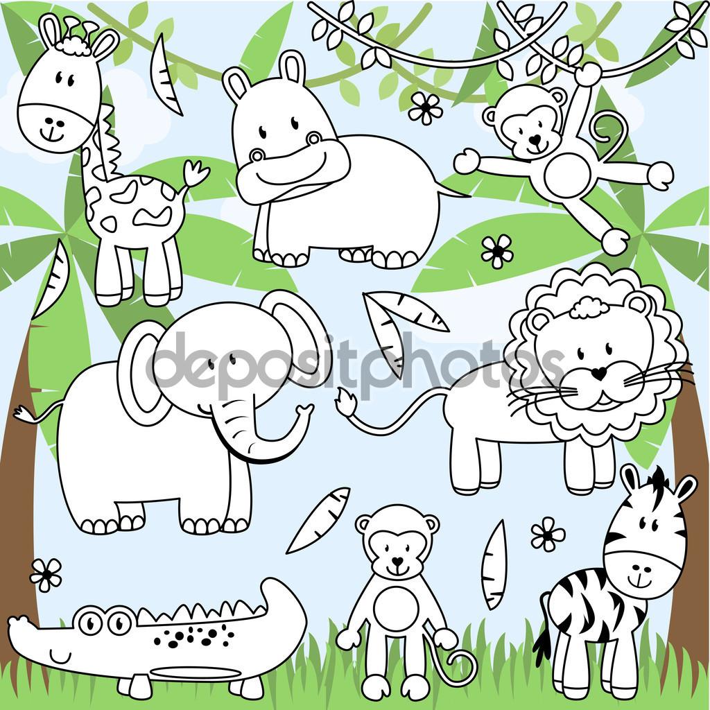 1024x1024 Cartoon Drawing Zoo Cartoon Drawing Zoo